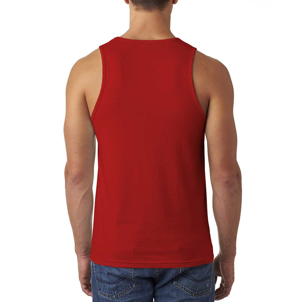 Next Level Men's Red Premium Fitted CVC Tank