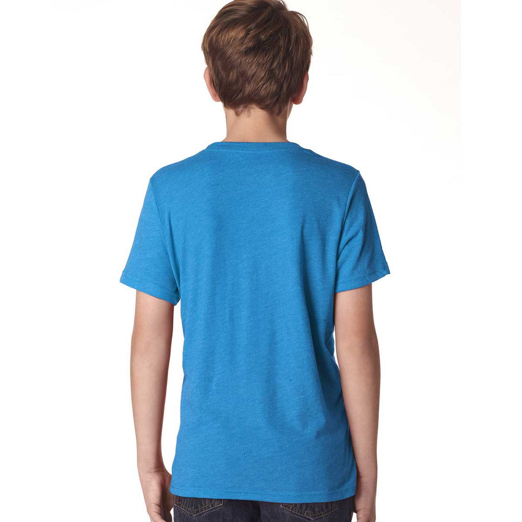 Next Level Boy's Vintage Turquoise Triblend Crew Tee