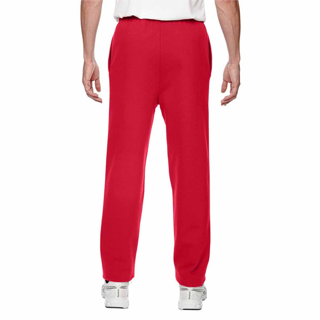 Champion Men's Sport Red for Team 365 Cotton Max 9.7-Ounce Fleece Pant