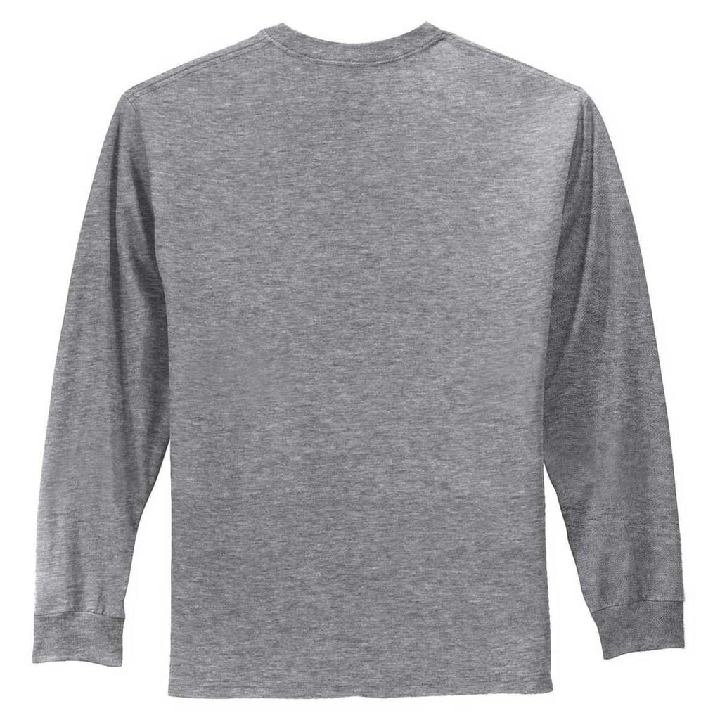 Port & Company Men's Athletic Heather Tall Long Sleeve Essential Tee