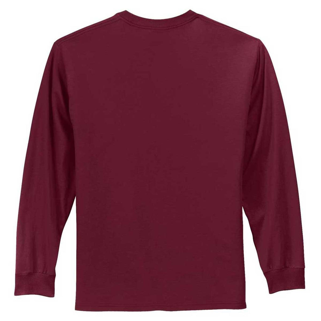 Port & Company Men's Cardinal Tall Long Sleeve Essential Tee
