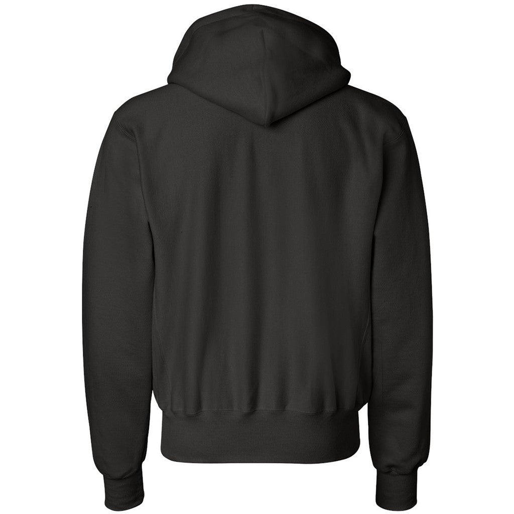 Champion Men's Black Reverse Weave 12-Ounce Pullover Hood