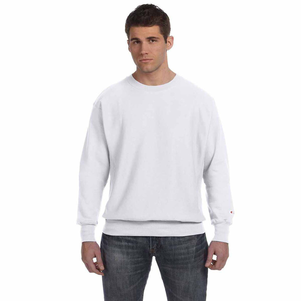 Champion Men's Silver Grey Reverse Weave 12-Ounce Crew