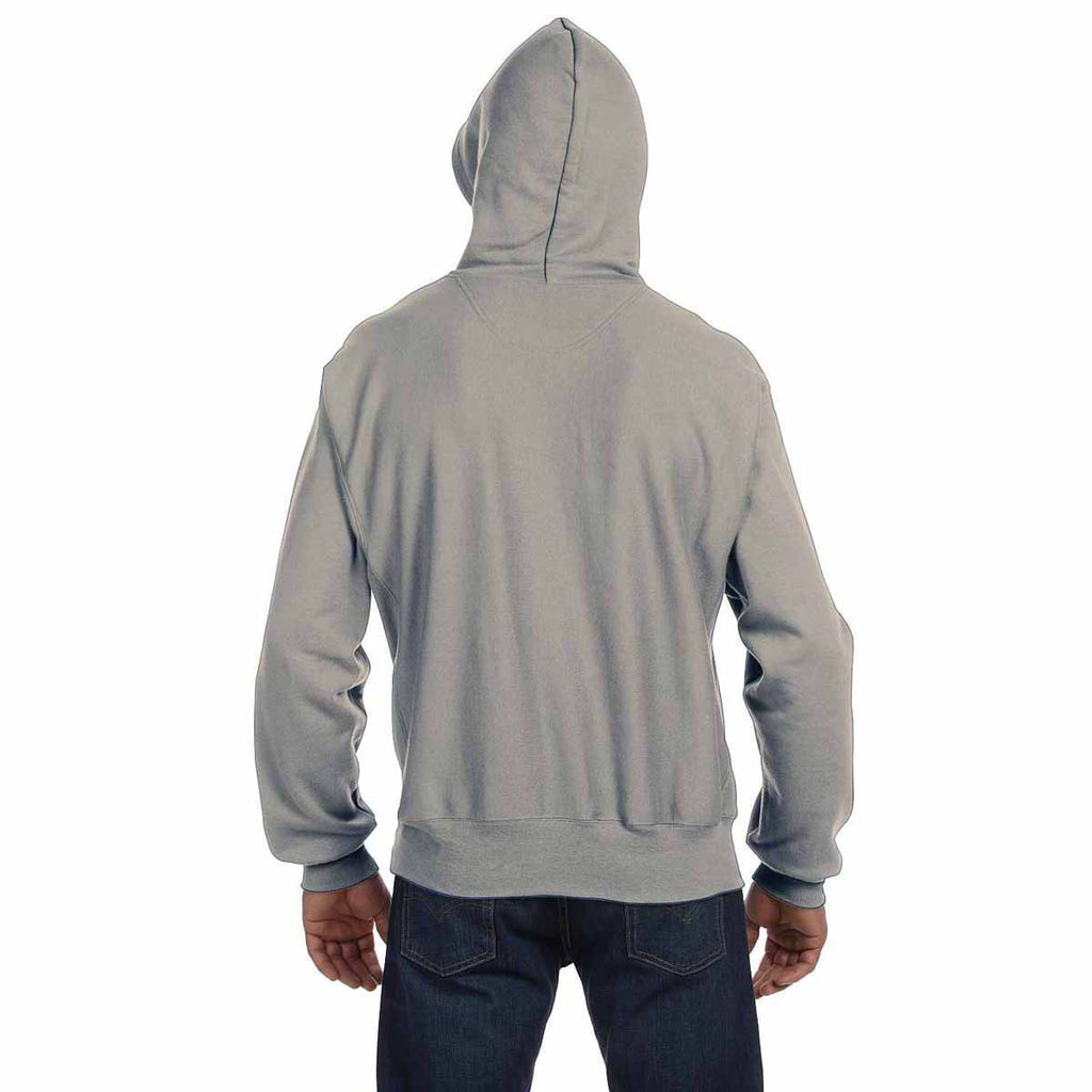 Champion Men's Oxford Grey Reverse Weave 12-Ounce Pullover Hood