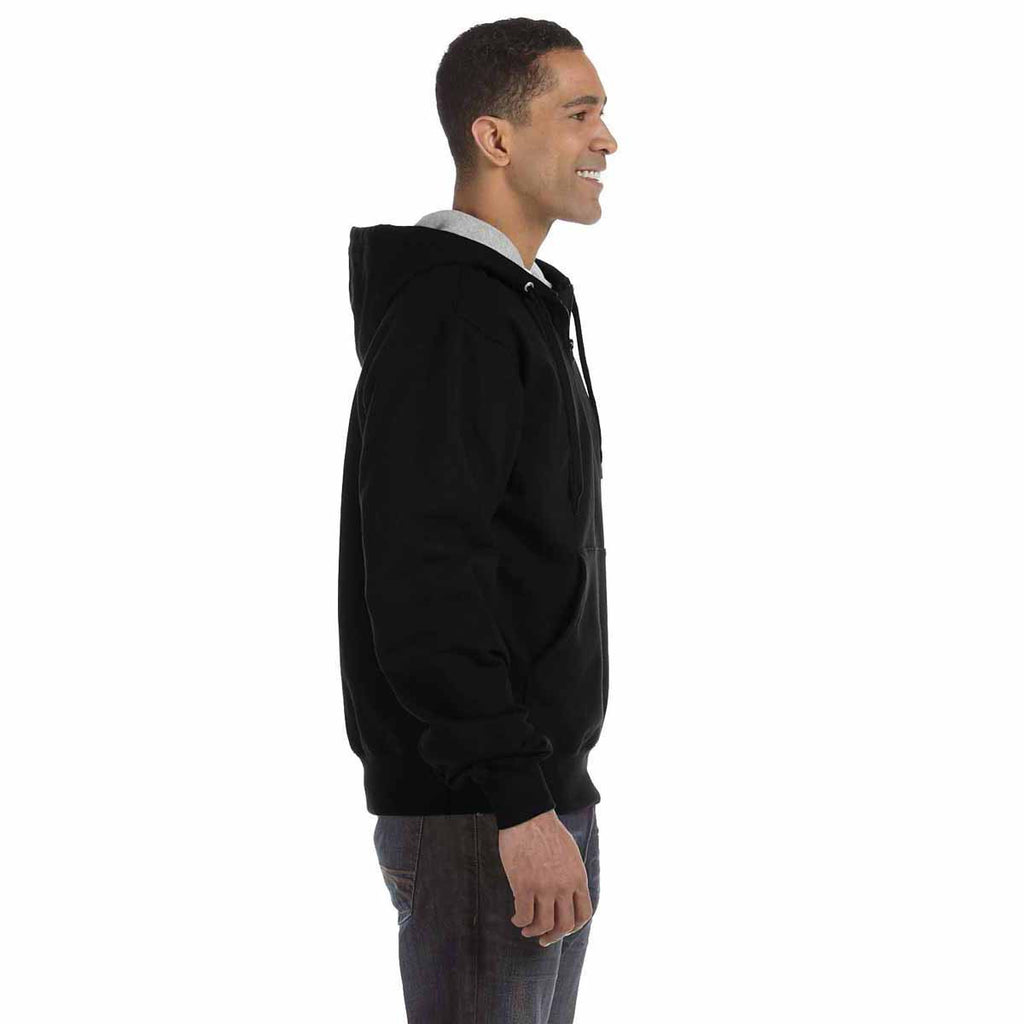 Champion Men's Black for Team 365 Cotton Max Fleece Quarter-Zip Hood