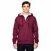 s185-champion-burgundy-quarter-zip-hood