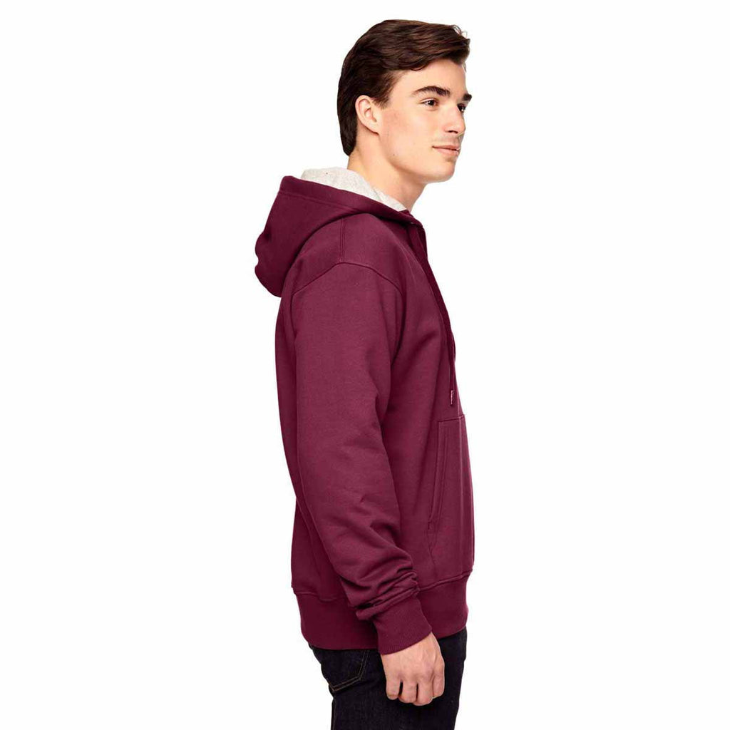 Champion Men's Sport Maroon for Team 365 Cotton Max Fleece Quarter-Zip Hood