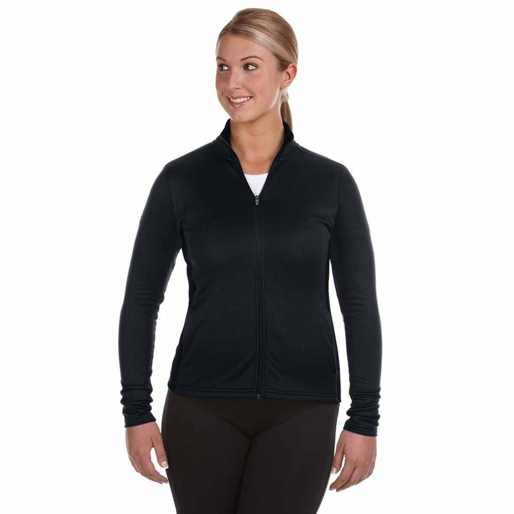 Champion Women's Black/Black Performance 5.4-Ounce Colorblock Full-Zip Jacket
