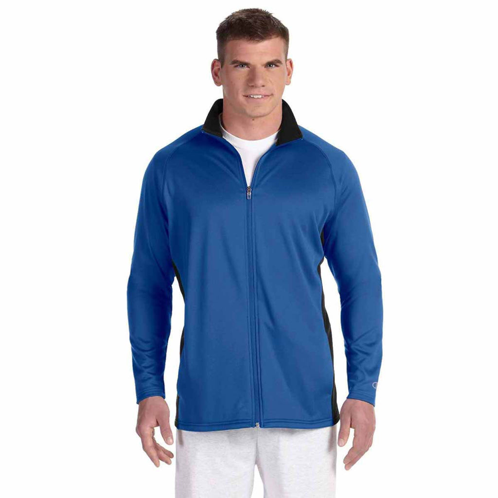 Champion Men's Athletic Royal/Black Performance 5.4-Ounce Colorblock Full-Zip Jacket