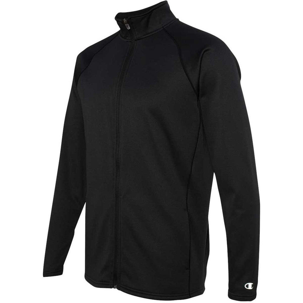 Champion Men's Black/Black Performance 5.4-Ounce Colorblock Full-Zip Jacket