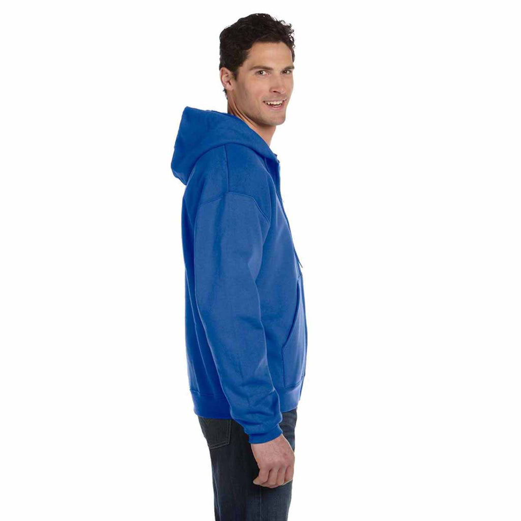 Champion Men's Royal Blue Heather Eco 9-Ounce Full Zip Hood