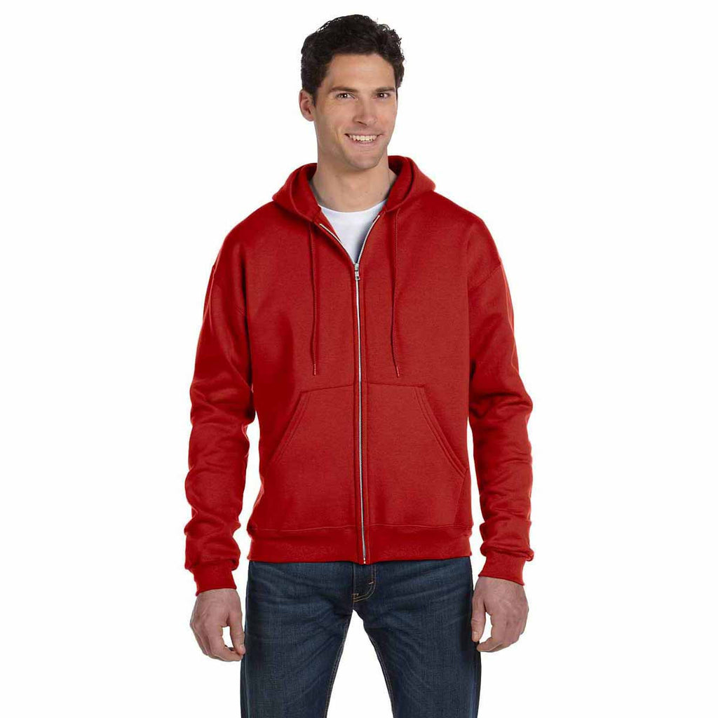 Champion Men's Scarlet Eco 9-Ounce Full Zip Hood