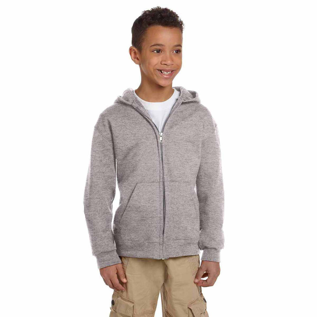 Champion Youth Light Steel Eco 9-Ounce Full-Zip Hood
