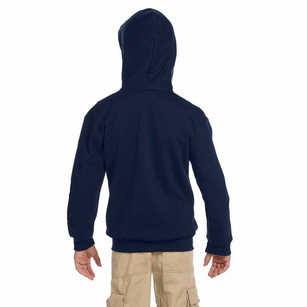 Champion Youth Navy Eco 9-Ounce Full-Zip Hood