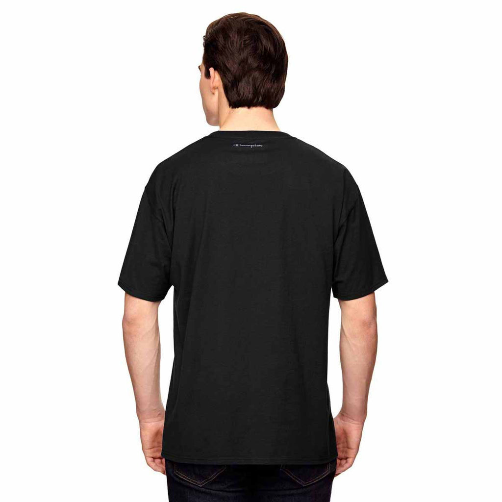 Champion Men's Black Vapor Cotton Short-Sleeve T-Shirt