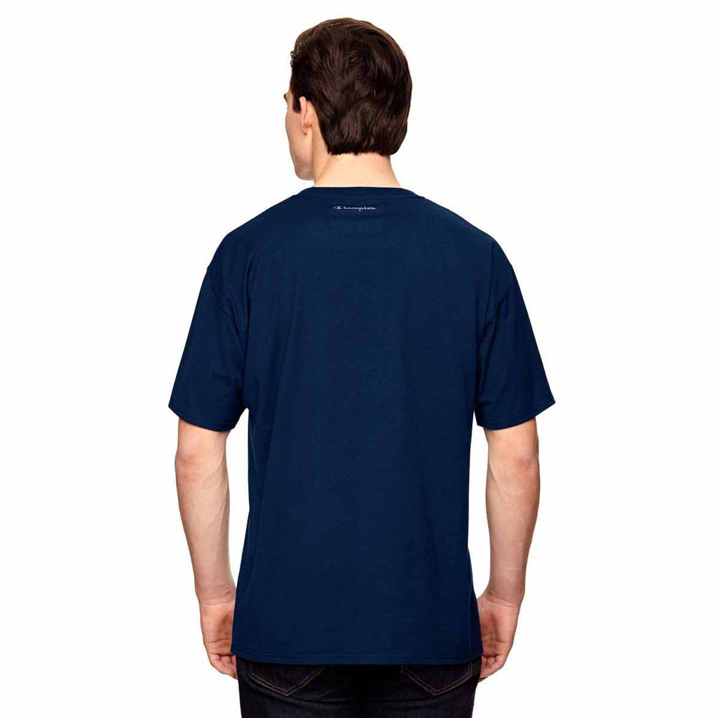 Champion Men's Sport Dark Navy Vapor Cotton Short-Sleeve T-Shirt