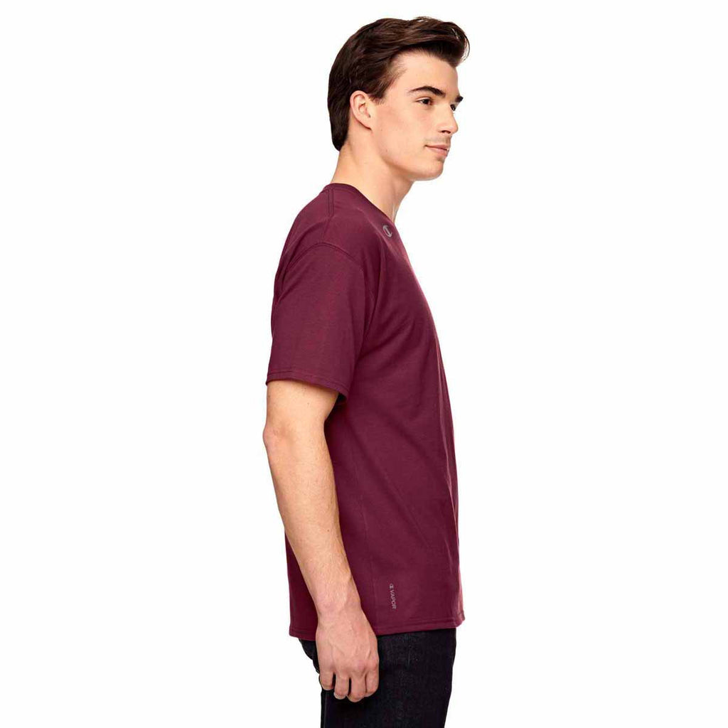Champion Men's Sport Maroon Vapor Cotton Short-Sleeve T-Shirt