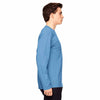 Champion Men's Sport Light Blue Vapor Cotton Long-Sleeve T-Shirt