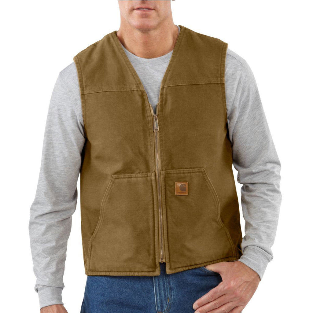 Carhartt Men's Frontier Brown Rugged Vest