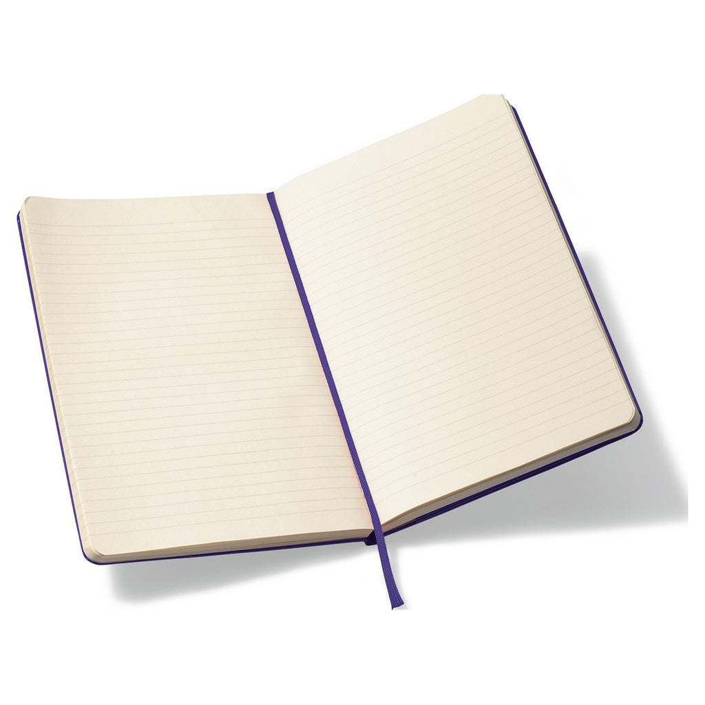 "Moleskine Brilliant Violet Hard Cover Ruled Large Notebook (5"" x 8.25"")"