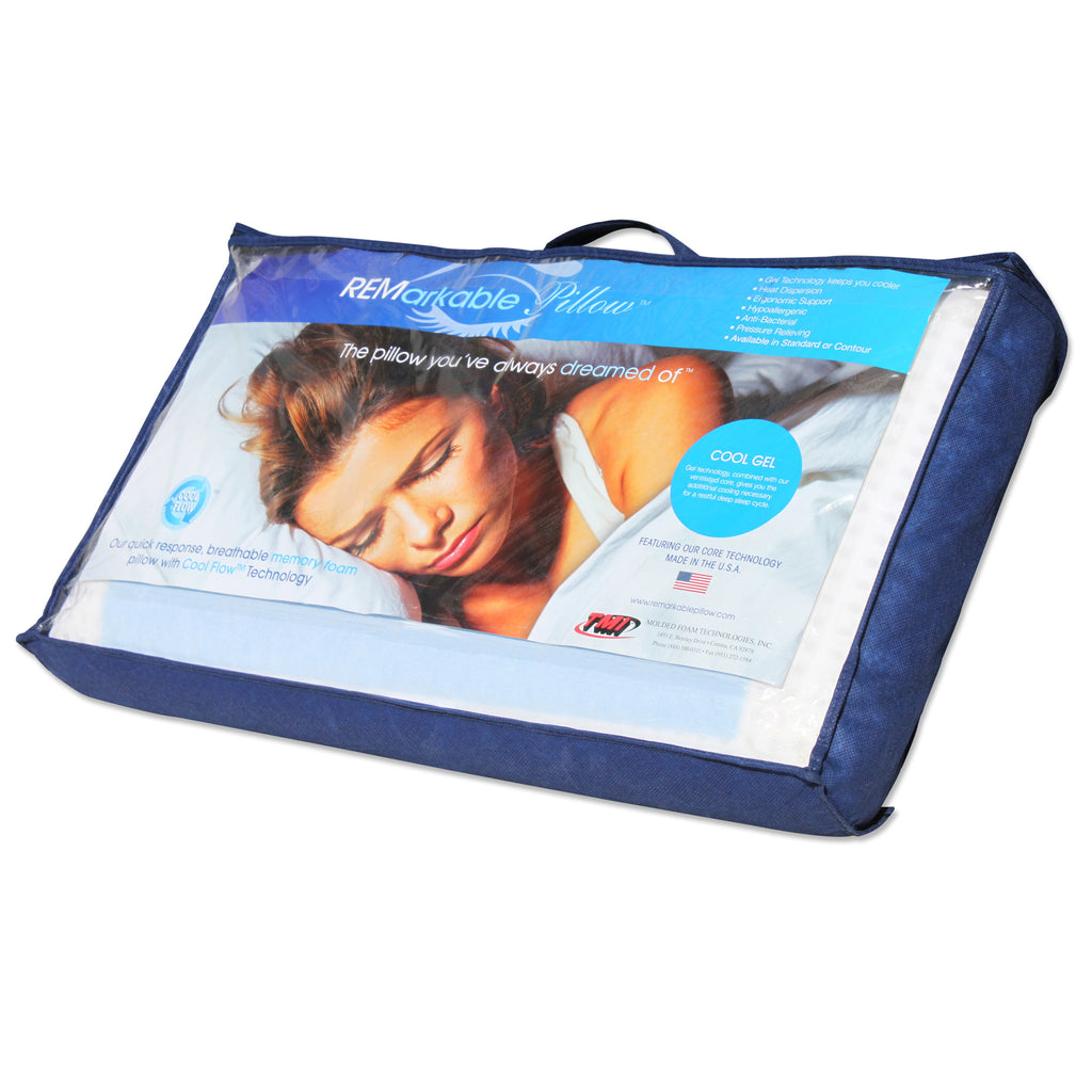 Cool Gel Memory Foam Ventilated Pillow
