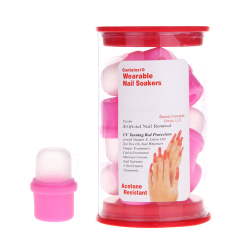 10PC NAIL SOAKER REMOVERS - Nails Plus Depot