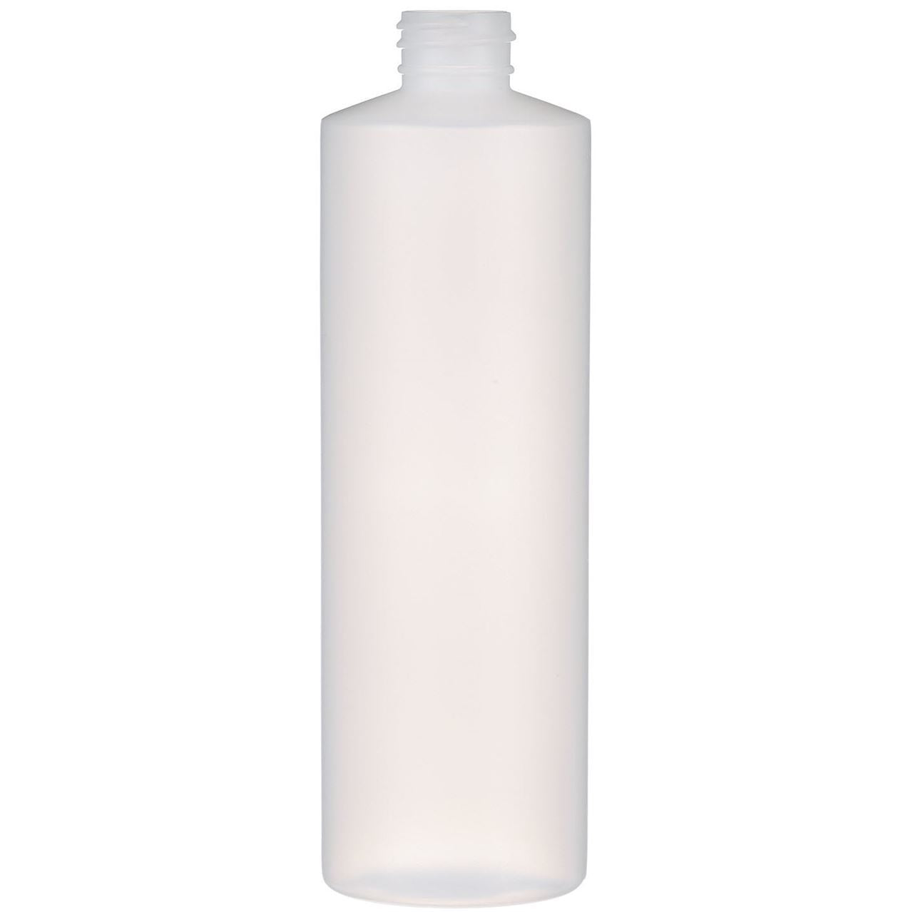 NATURAL PLASTIC CYLINDER BOTTLE 16 OZ. - Nails Plus Depot