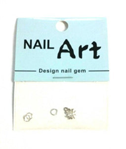 3D Nail Art Dangle Charm - Gold Sun - Nails Plus Depot