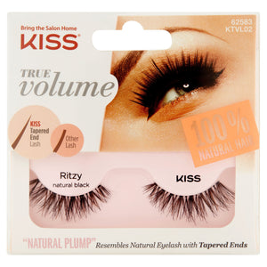 KISS True Volume Eyelashes Ritzy Natural Black - Nails Plus Depot