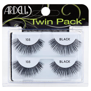 Ardell #105 Black Lashes Twin Pack - Nails Plus Depot