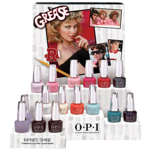 OPI GREASE COLLECTION - INFINITE SHINE DISPLAY 16 CT. - Nails Plus Depot