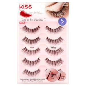 KISS Looks So Natural False Eyelashes, Poise - Nails Plus Depot