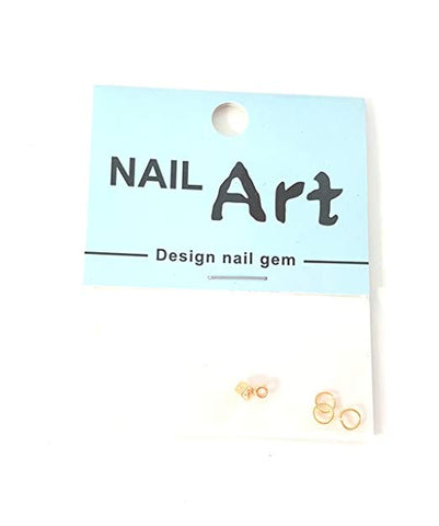 3D Nail Art Dangle Charm - Gold Dice - Nails Plus Depot