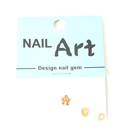 3D Nail Art Dangle Charm - Gold Bow - Nails Plus Depot