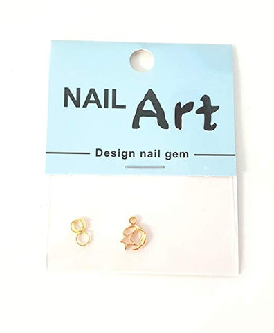3D Nail Art Dangle Charm - Moon and Stars - Nails Plus Depot