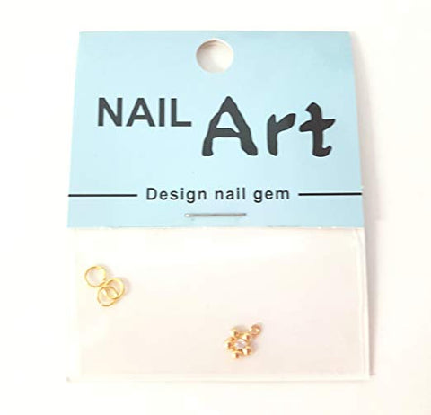 3D Nail Art Dangle Charm - Gold Flower - Nails Plus Depot