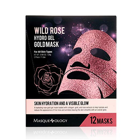 Wild Rose Hydro Gel Gold Mask 12 ct. - Nails Plus Depot
