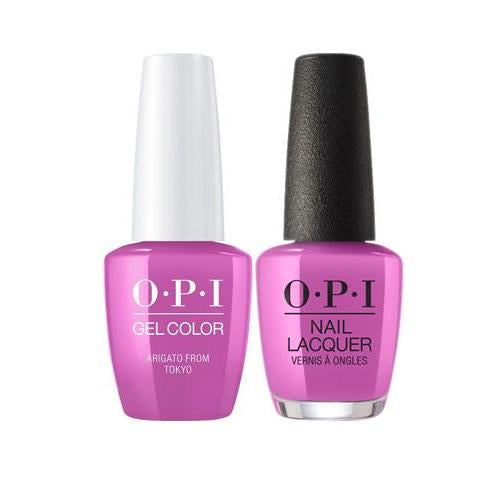 OPI GelColor + Matching Nail Lacquer Arigato From Tokyo - Nails Plus Depot
