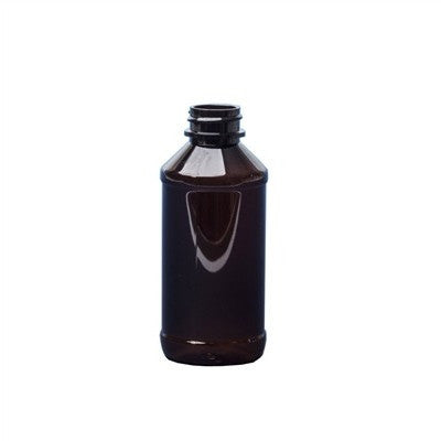 AMBER PET PLASTIC MODERN ROUND BOTTLES 4 OZ - Nails Plus Depot