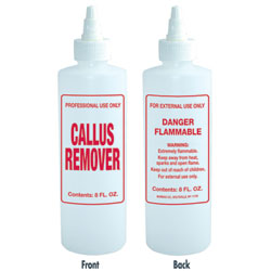 IMPRINTED NAIL SOLUTION BOTTLE - CALLUS REMOVER / 8 OZ. - Nails Plus Depot