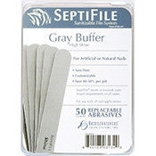 BACKSCRATCHERS SEPTIFILE GRAY BUFFERS 50 CT. - Nails Plus Depot