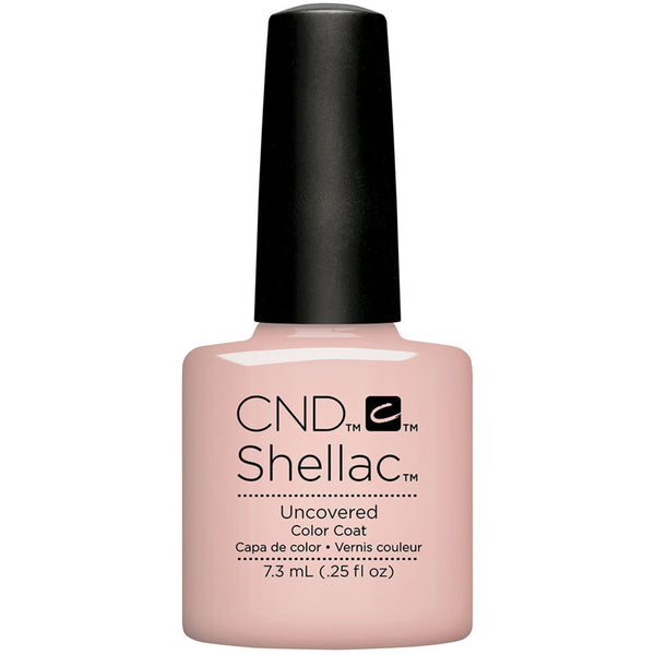 CND SHELLAC - NUDE THE COLLECTION - UNCOVERED  0.25 OZ. - Nails Plus Depot - Professional Nail Supplies