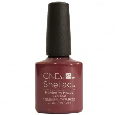 CND SHELLAC - GLACIAL ILLUSION THE COLLECTION - MARRIED TO MAUVE 0.25 OZ. - Nails Plus Depot
