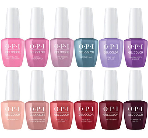 OPI PERU GELCOLOR COLLECTION  12 CT. - Nails Plus Depot