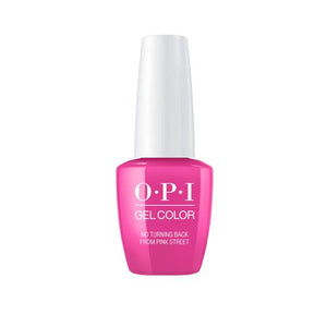 OPI GELCOLOR  NO TURNING BACK FROM PINK STREET 15ML. - Nails Plus Depot
