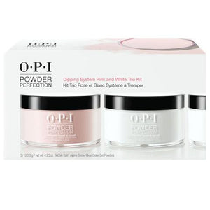 OPI POWDER PERFECTION DIPPING SYSTEM PINK AND WHITE TRIO KIT - Nails Plus Depot