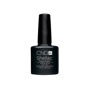 CND SHELLAC -OVERTLY ONYX  .25 OZ. - Nails Plus Depot