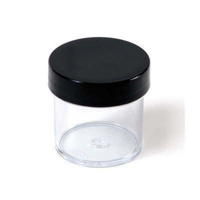 PLASTIC JAR CLEAR 1OZ. - Nails Plus Depot