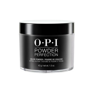 OPI POWDER PERFECTION BLACK ONYX COLOR POWDER 1.5 OZ. - Nails Plus Depot