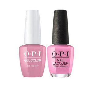 OPI GelColor + Matching Nail Lacquer Rice Rice Baby - Nails Plus Depot